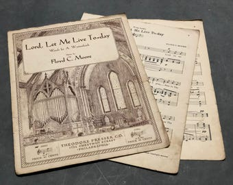Piano Book Sheet Music Vintage Distressed