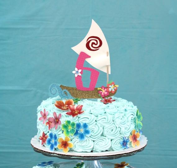 Moana cake topper Personalized Moana cake topper Hawaiian