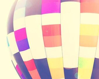 Hot Air Balloon - 8x10 photograph - fine art print - vintage photography - romantic - wedding gift