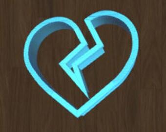 Broken Heart Valentine's Day Cookie Cutter