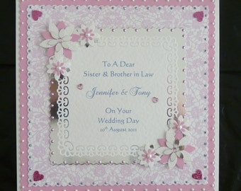 Wedding Day Congratulations Card for Son/Daughter/Granddaughter/Grandson/Special Couple/Friends Large Handmade Personalised
