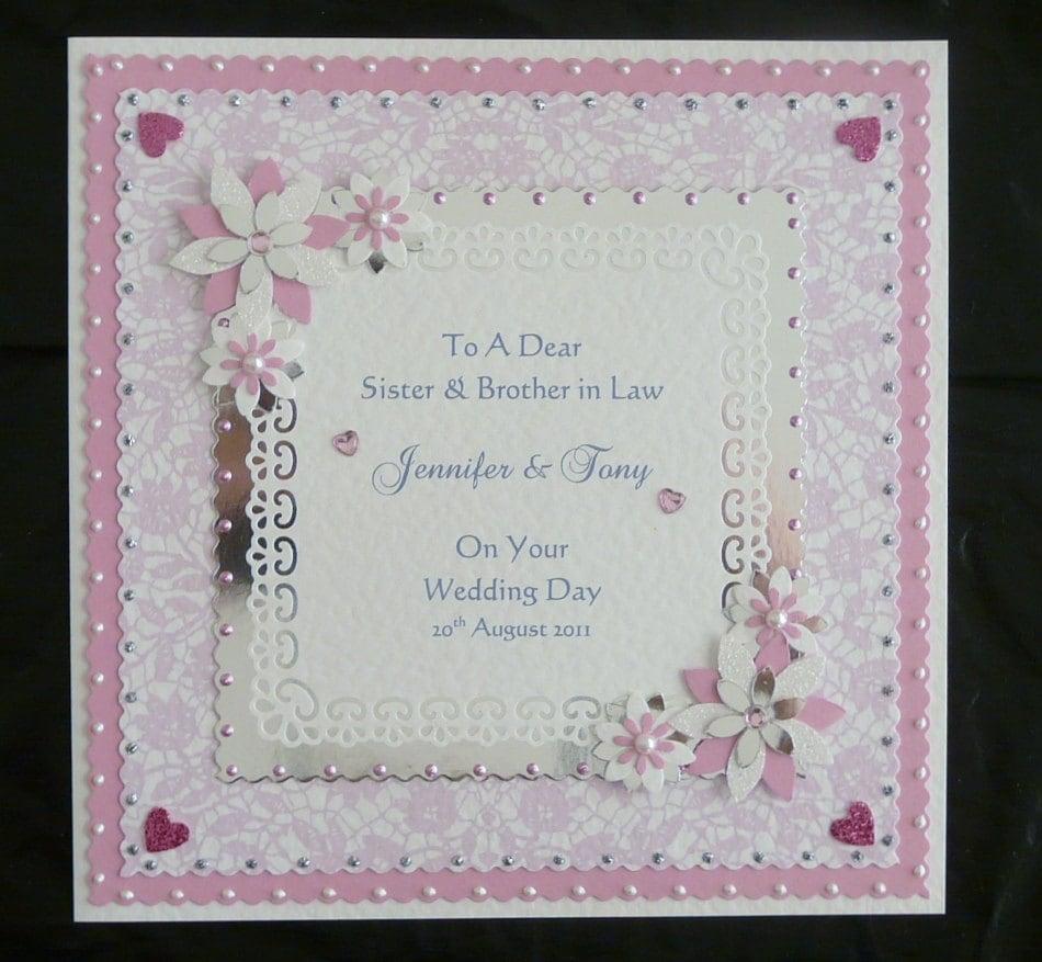 wedding day congratulations card for