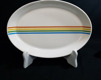 "Vintage Syracuse China 12 1/2"" Oval Platter Spectrum Pattern Priced per Piece"