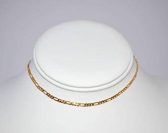 Gold Figaro Chain Choker