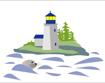 New England Lighthouse - Set of 8 Note Cards