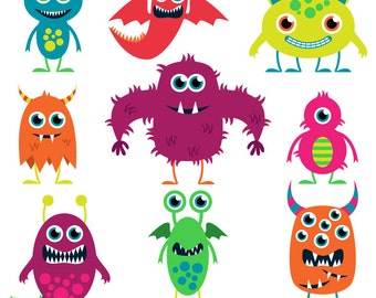 Cute Monsters Clip Art Clipart Aliens Clip Art Clipart - Commercial and Personal