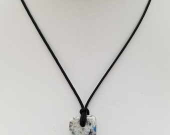 K2 Granite Pendant Necklace, Free Shipping (18461), K2 Granite and Azurite Necklace, Pendantlady,Pq