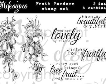 Fruit Borders Digital Stamp Set