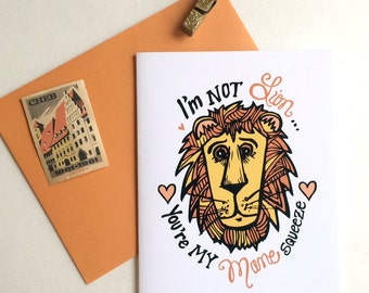 Mane Squeeze Greeting Card