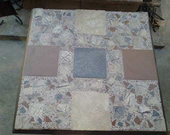 Mosaic square table