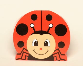 Ladybird favour boxes