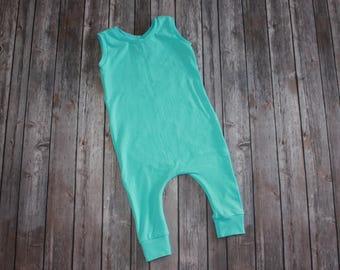 Romper, Baby Romper, Toddler Romper, Harem Romper, Baby Harem Pant, Blue Overall