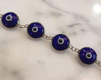 Sterlig Silver Evil Eye Bracelet