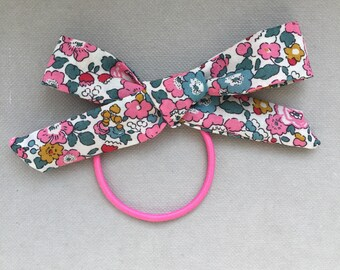 Liberty print fabric hair bow