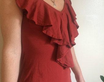 Copper boho dress