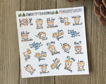 Small Foxy Puns for TN pocket, SMC personal and pocket size, and other small planners