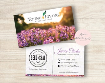 Young Living Essential Oils Business Card - Digital Design  - template