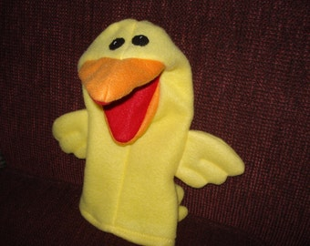 Yellow Bird Hand Puppet moveable mouth