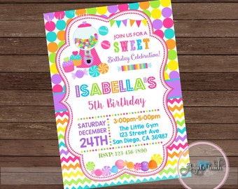 candyland party invitation candy land birthday invitation candyland birthday party invitation candyland invitation digital file