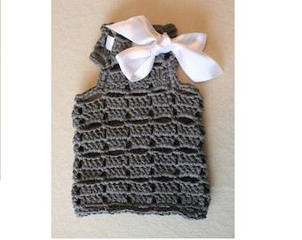 Crochet dog clothes / Dog Sweater - Pet clothing - White Bow Sweater - Dog crochet vest - Small dog clothes / Pet sweater / BubaDog