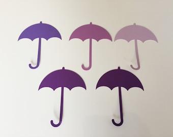 "Umbrella Die Cuts (3"" wide), Baby Shower Umbrella Decor, Paper Umbrellas"