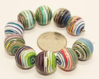 Polymer Clay Jupiter Beads (Set of 10)