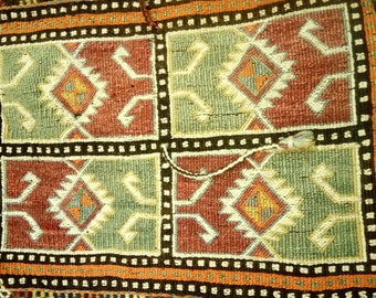 Etsy's 13th Birthday Sales Anatolian kilim saddlebag 151x51 cm