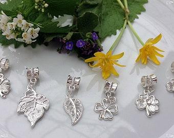 Silver pendants, 6 pcs of pendants, Pandora Style, Bright pendants, Set of pendants, Silver color, Handmade pendants, Bracelet pendants