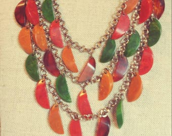 Lucite Style Necklace