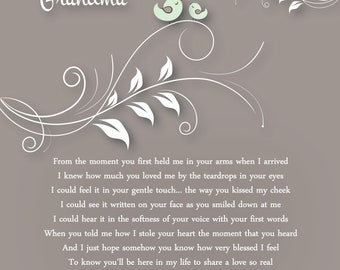 Mothers Day Gift for New Nana Mimi Grandma Personalized