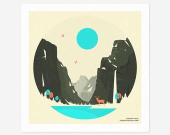 YOSEMITE NATIONAL PARK (Giclée Fine Art Print/Photo Print/Poster Print) by Jazzberry Blue