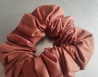 Handmade Brown Scrunchie