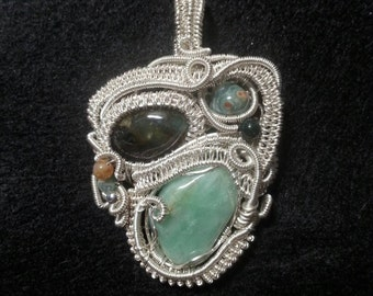 Wire wrapped heady pendant