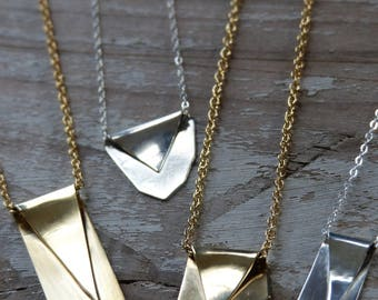 Free Form Folded Necklace