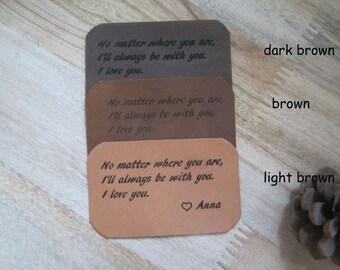 Leather Wallet Insert Card, Custom Laser Engraved Wallet Card,Anniversary Gift,Custom Personalized Wallet Card,Wallet Love Card,Love Note,A