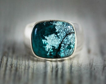 Turquoise Ring 12 - Turquoise Mens Ring size 12 - Mens Turquoise Ring - Mens Ring Turquoise Jewelry - Sterling Silver Turquoise Ring size 12