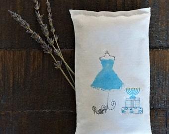 Hanukkah Lavender Sachet, Travel Bag Sachet, Gift for Hanukkah, 8 Nights of Hanukkah Gift, Hanukkah Gift Idea