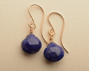 plain lapis semi precious ireland earrings stud polished hanging jewellery silver