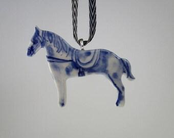 Horse - Handpainted Porcelain ornament
