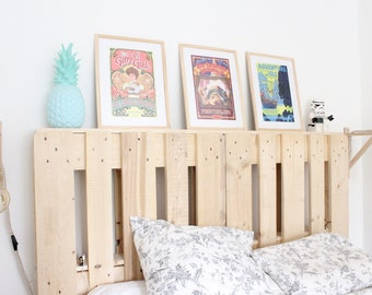 Headboard industrial pallet