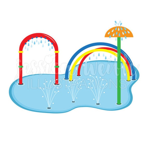 splash pad clip art cute digital clipart water park clip rh etsy com clip art park ranger clip art parking spaces