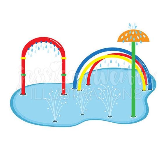 splash pad clip art cute digital clipart water park clip rh etsy com