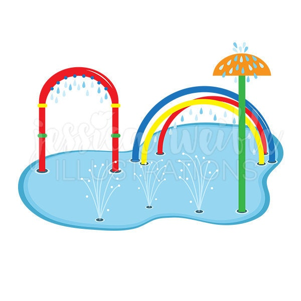 splash pad clip art cute digital clipart water park clip rh etsy com park clip art with dogs park clipart free