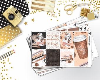 Buy 2 and get the 3rd kit free || LATTE Full Kit || 8 Full Sheets || Erin Condren Vertical || EC 136