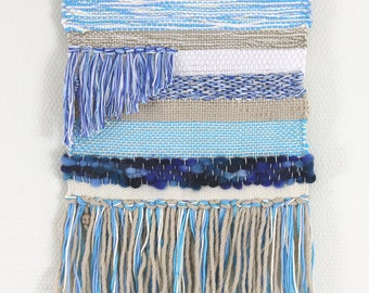 Hand Woven Wall Hanging, Blue