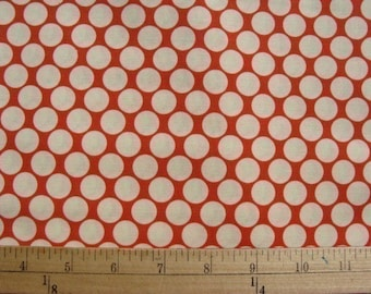1 yd Amy Butler Full Moon Dots in Cherry Red,,,Quilt Sewing and Apparel Fabric Lotus