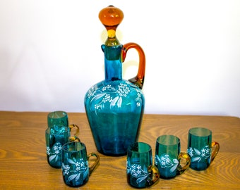 Cordial Set with Extra Decanter c. 1903-1933 - ON SALE!
