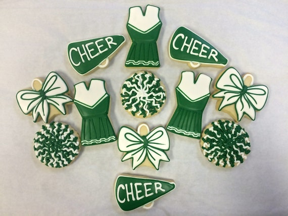 6th Wedding Anniversary Sugar Gifts: Cheerleading Cookies For Birthday Cheer Competition Gift