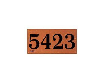 Engraved Brick with House Address Number or Other Message