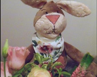 Handmade stuffed animal rabbit